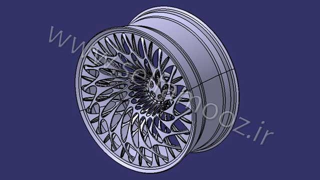 طراحی رینگ اتومبیل در کتیا