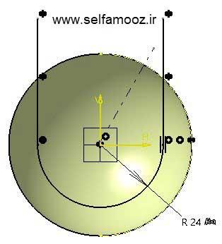 طراحی توپ تنیس در کتیا