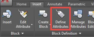 دستور Define Attribute